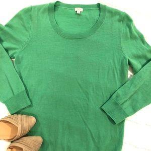 J. Crew green Tippi sweater
